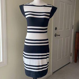 FCUK Jag Stripe Cap Sleeve Dress (NWT)